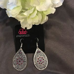 Paparazzi Pink and Silver Earrings